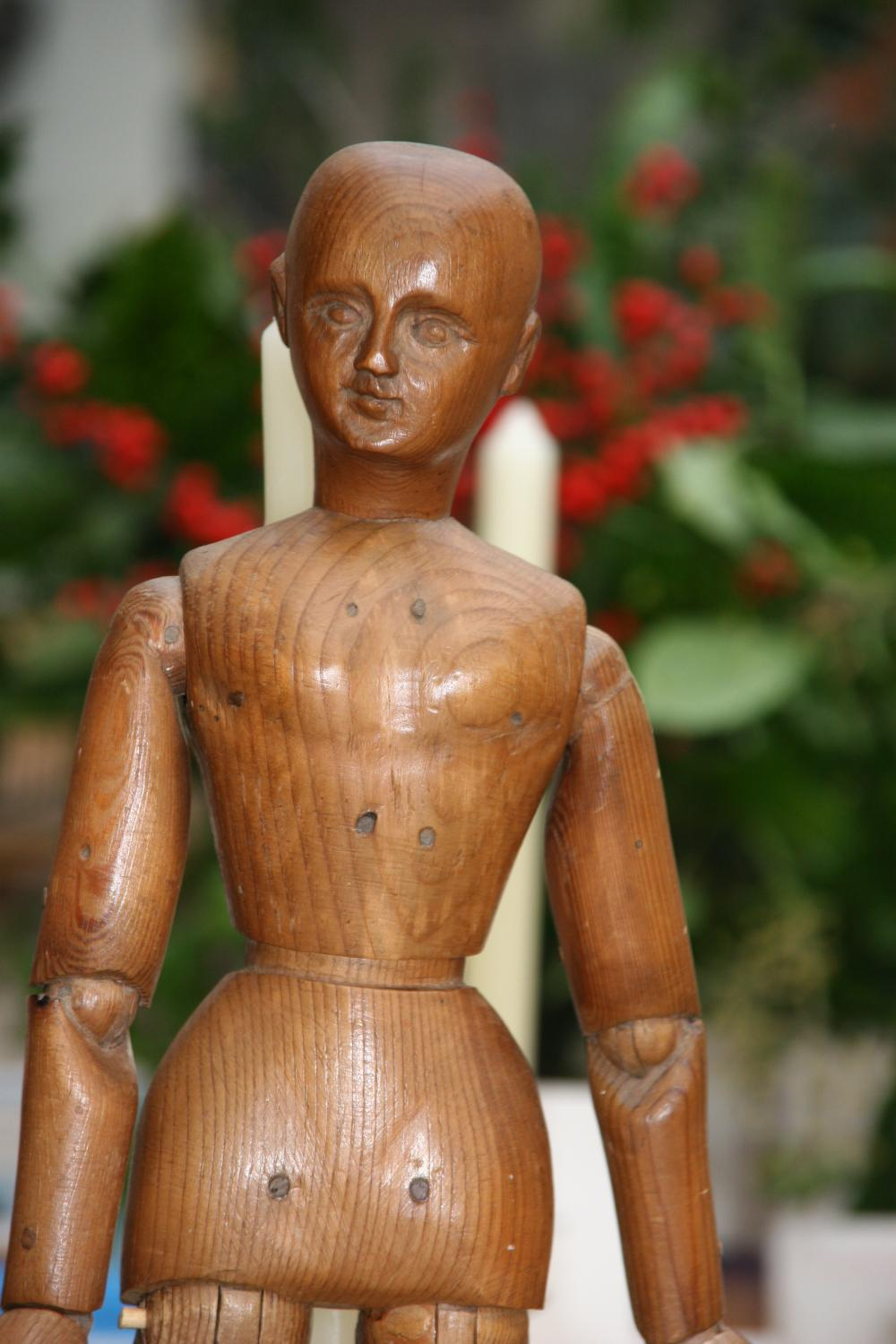 19thc wooden articulated artist's lay model ,