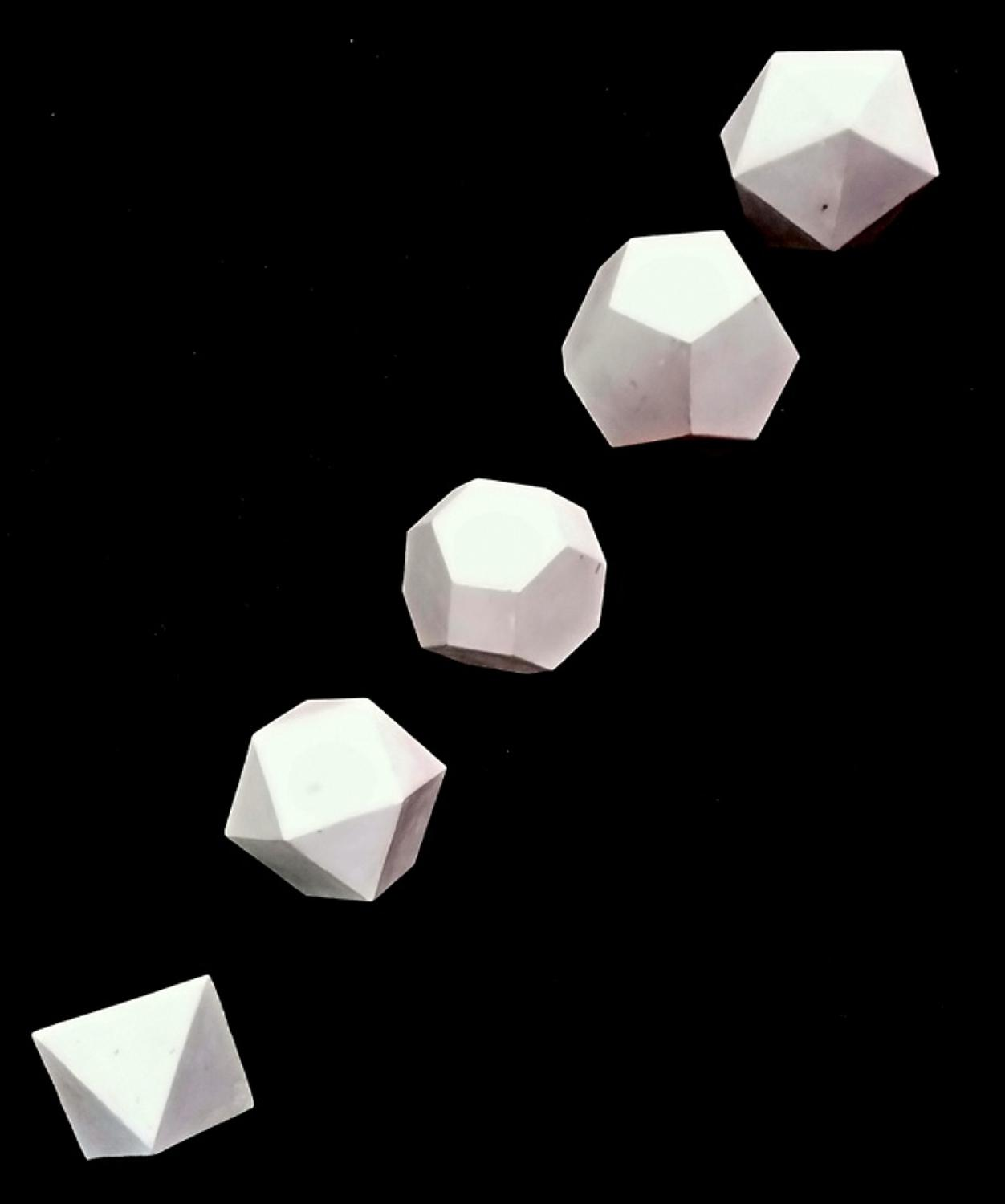 5 x Geometric Solids 1960's
