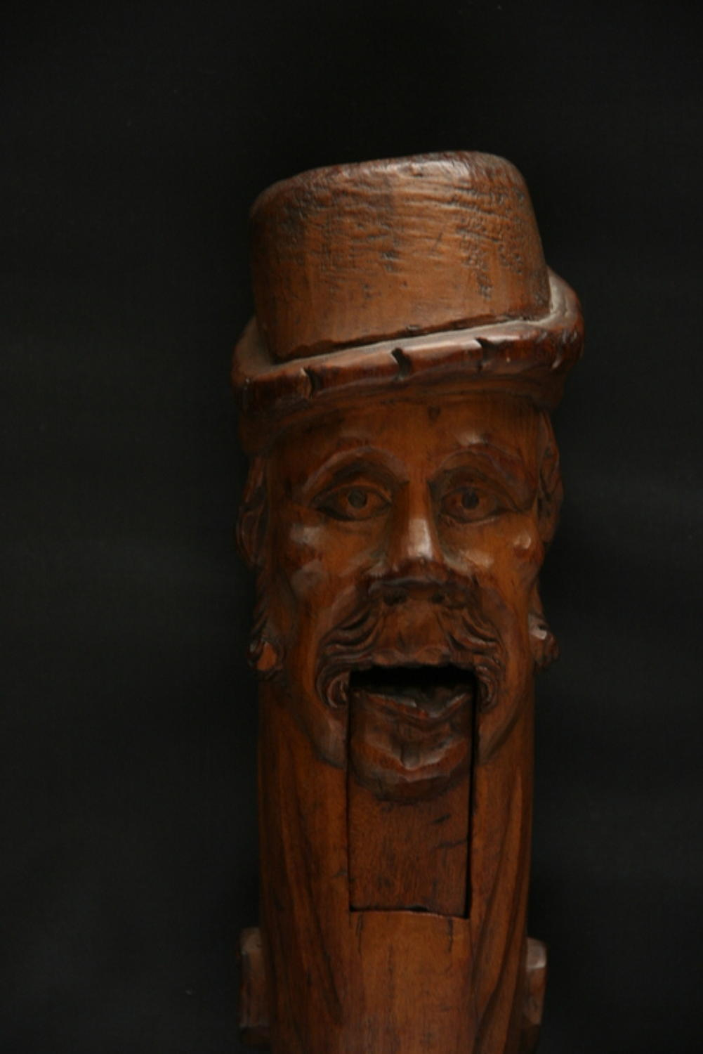 Large Figural late 19th  century carved wooden Lever Nutcracker