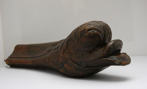 Carved wooden Dolphin / Fish  Bannister finial / architectural element