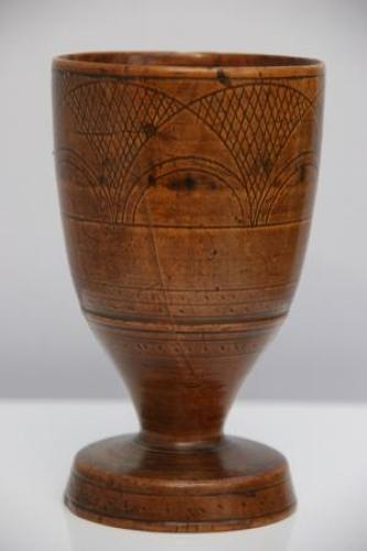 Late Elizabethan Pearwood  Goblet