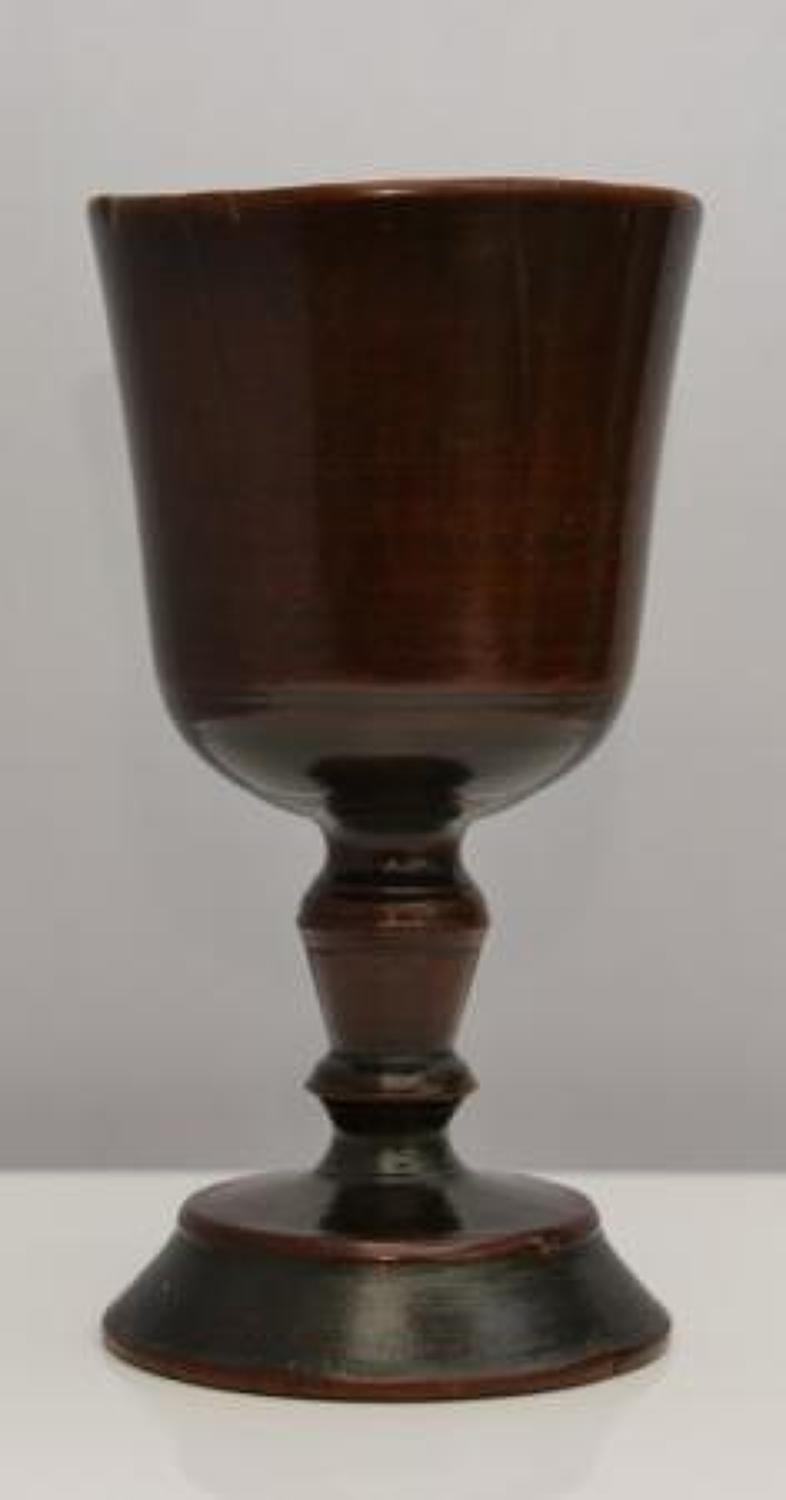 Early 17th fruitwood english goblet
