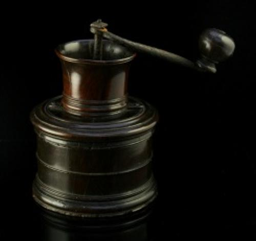 English Lignum Vitae  Coffee Grinder / Mill c.1780