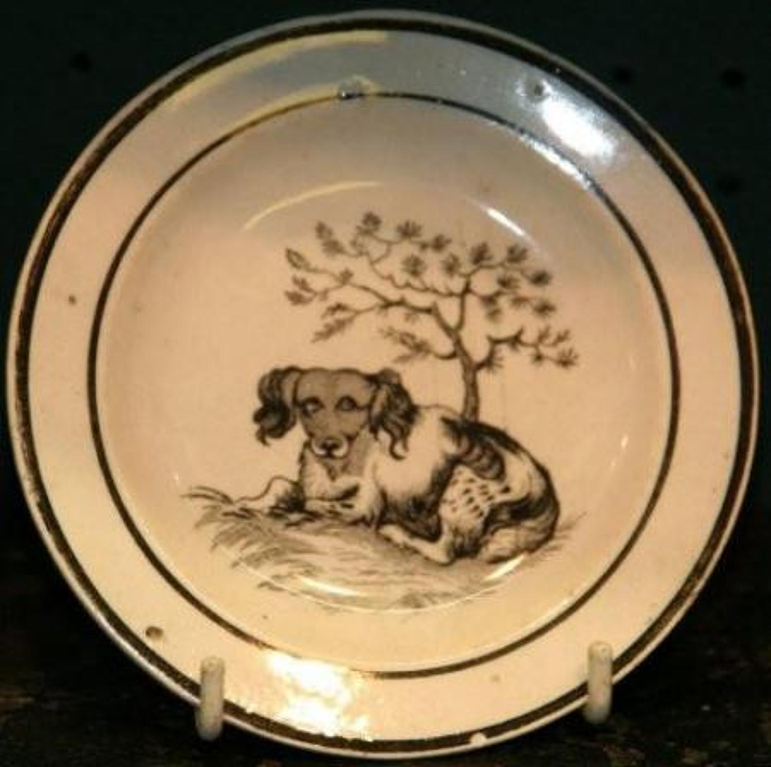 Dog print Childs Plate
