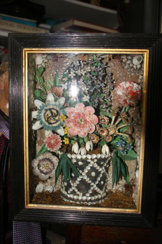 Sea Shell Flower Diorama shadowbox