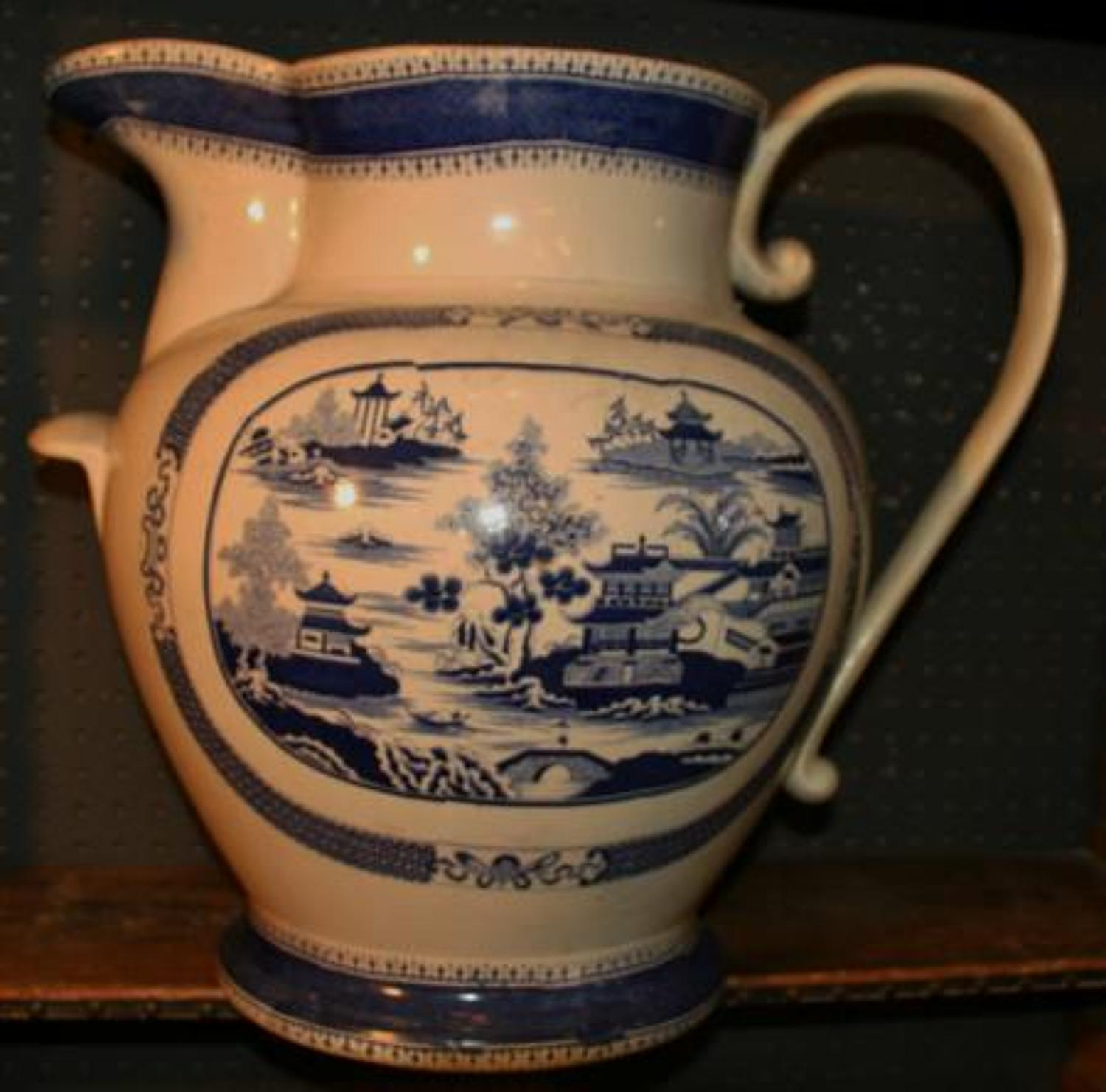 Very Very Large Blue and White Jug 19th century