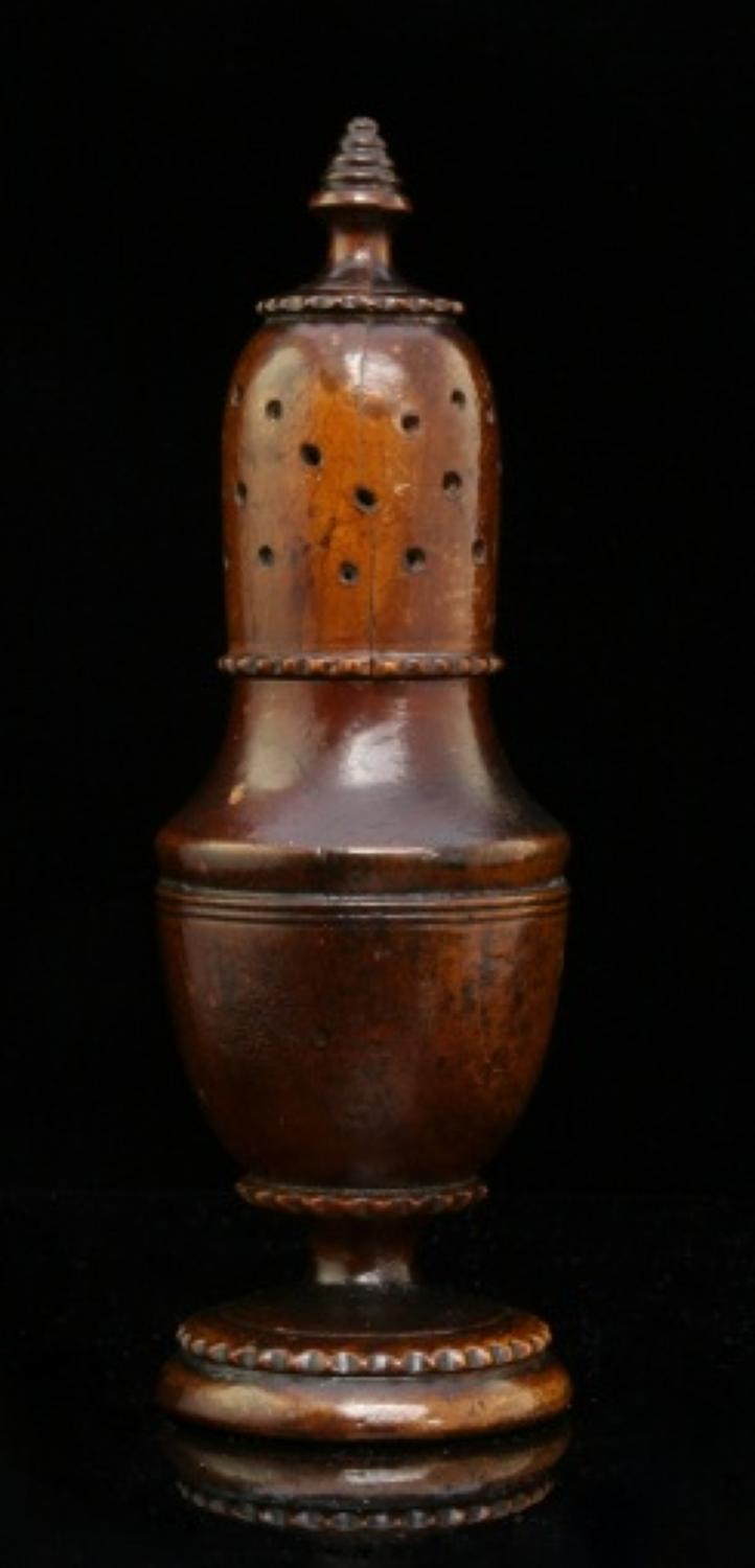 Treen Muffineer  / pepper  English early 19th century
