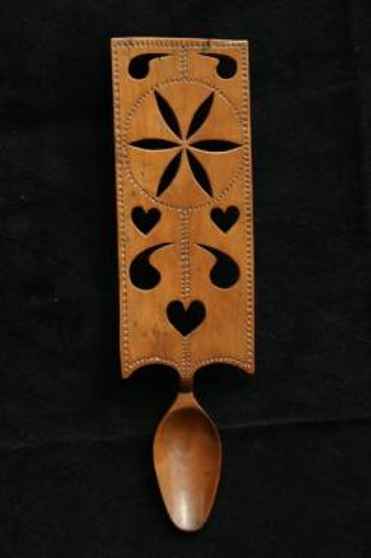 19th century Treen welsh love spoon