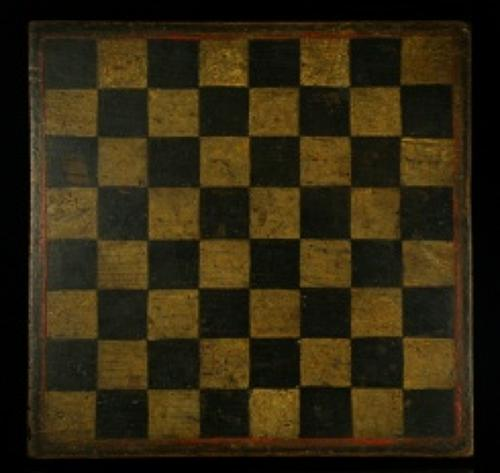 Double sided games board 19th century