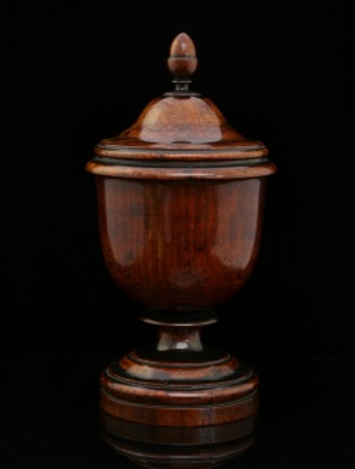 Rosewood Urn, caddy, English. c.1820