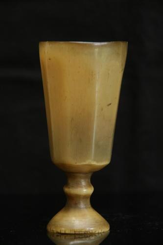 Faceted Horn wine goblet