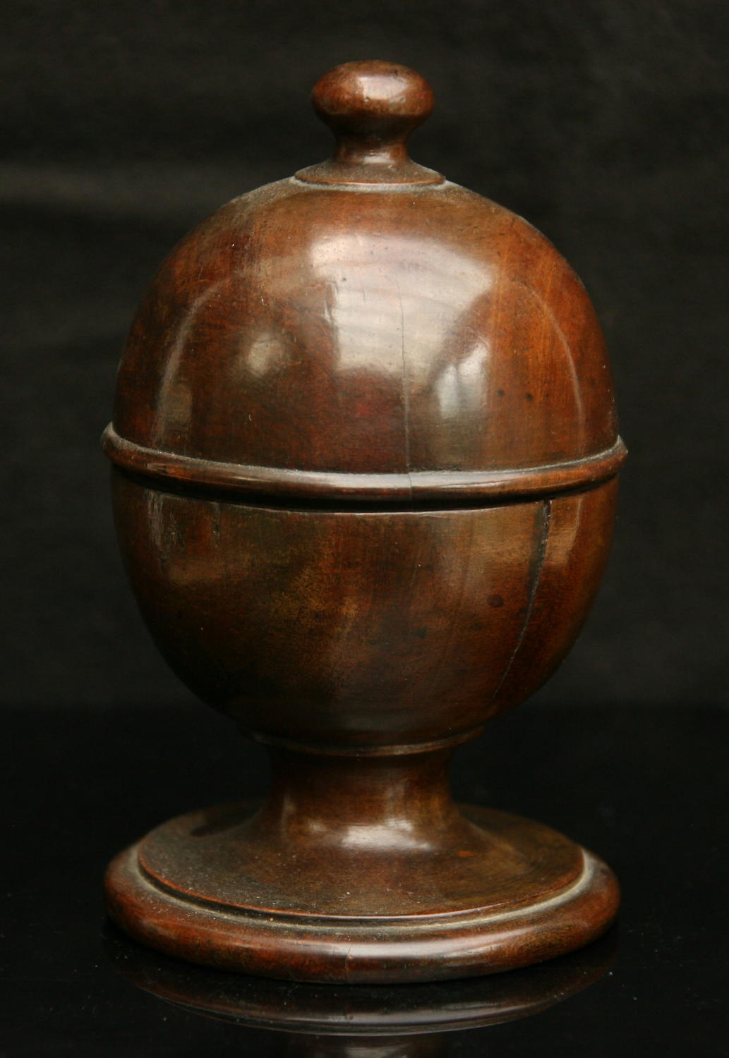 Treen spice Pot, English 19th Century