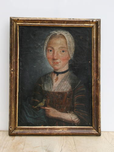 Portrait of a Lady,  Oil on Canvas,18th Century.