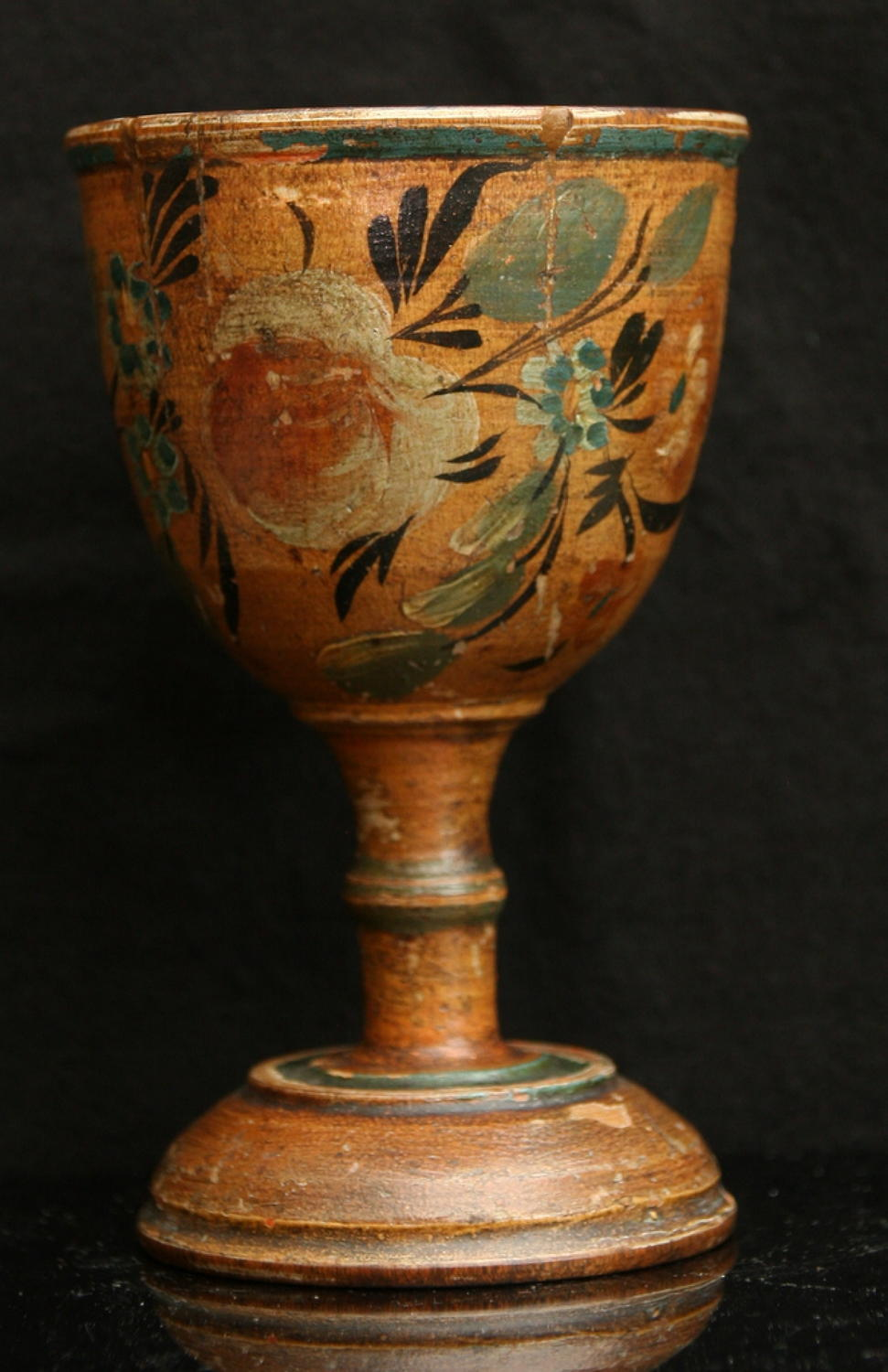 Painted Treen Goblet 19th century