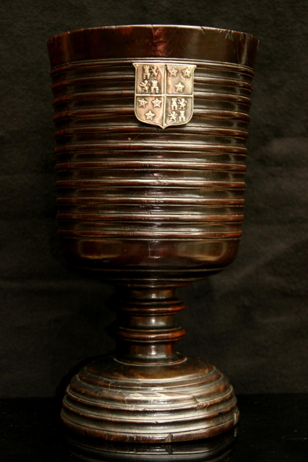Large Lignum Vitae Loving Cup English 17th century