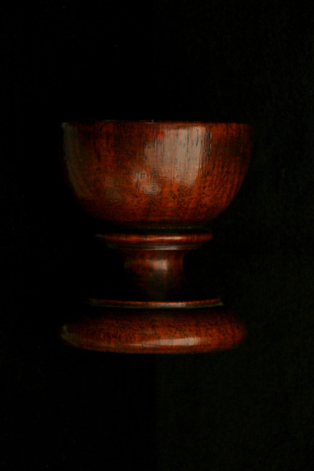 English treen salt 19th century