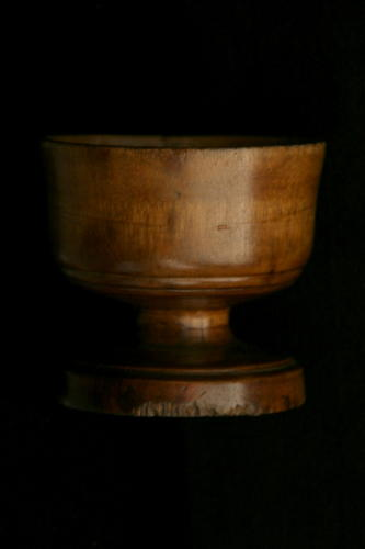 English Treen salt early 19th century
