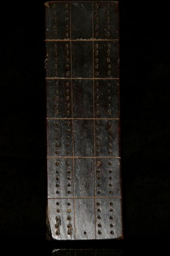 English treen  Cribbage board