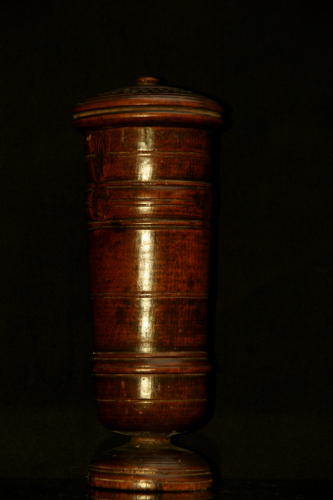 17th century lidded Treen  goblet
