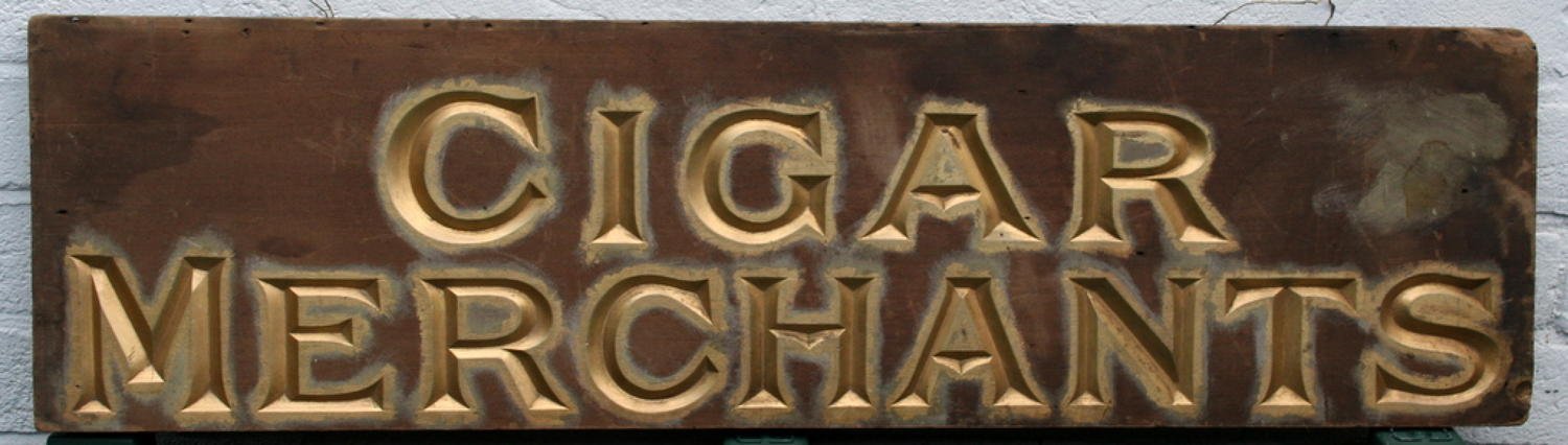 Victorian Cigar Merchant sign