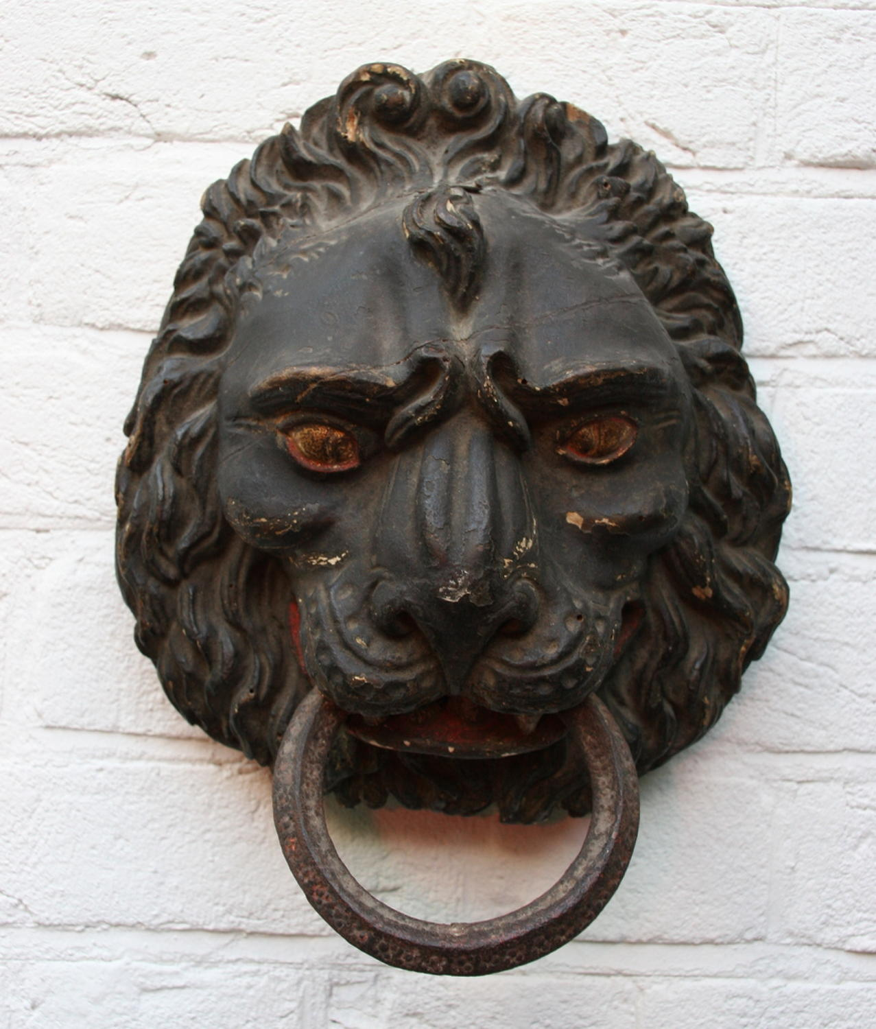 18th Century Carved wooden Lions Head