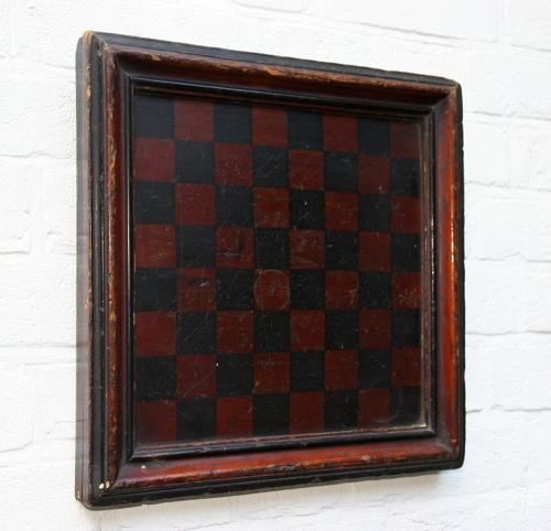 Folk art Victorian  Games Board Chess