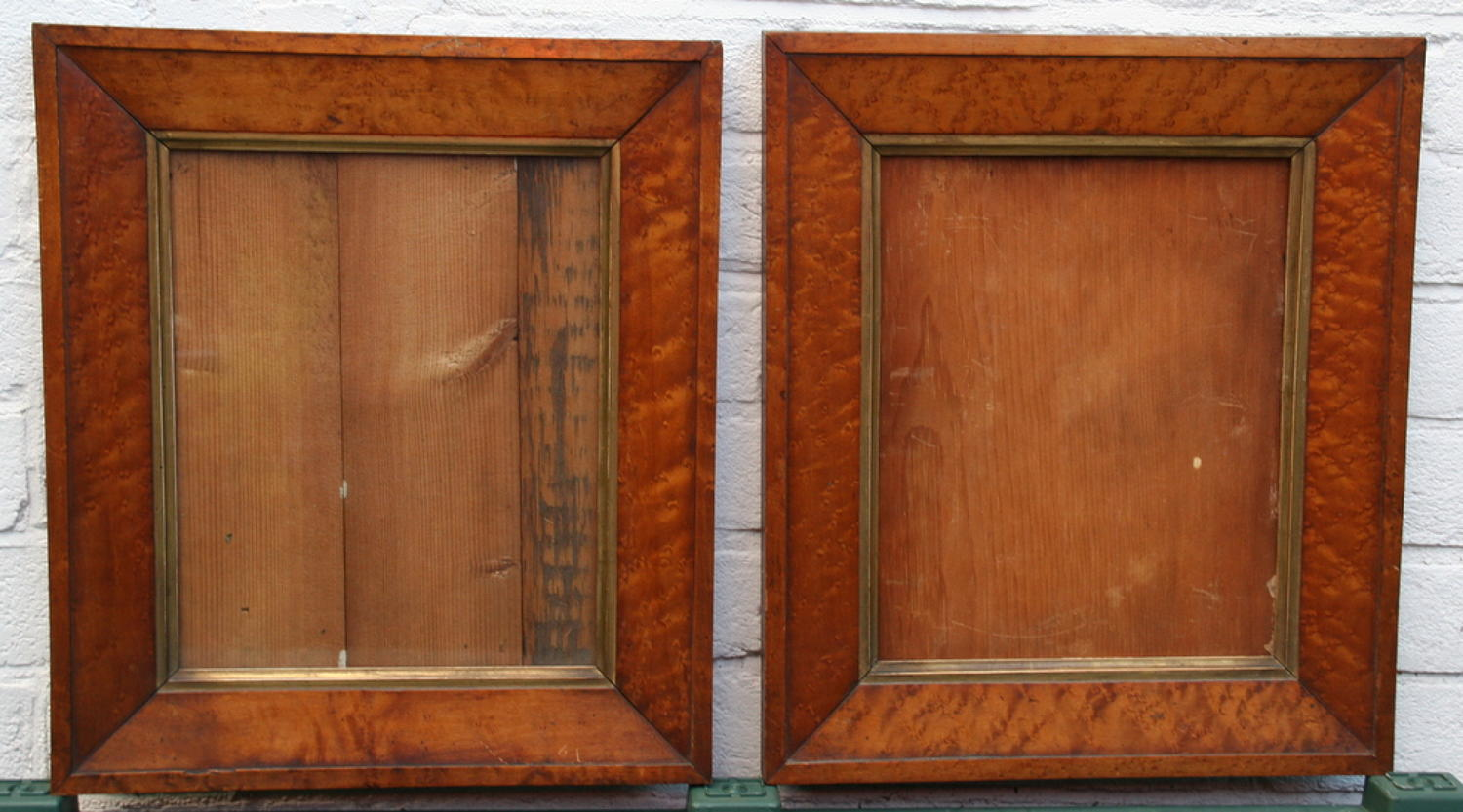 A Pair of Birds eye maple Frames 19th century
