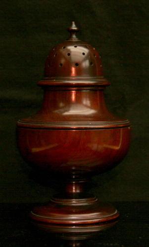 Treen Pomander of muffineer form