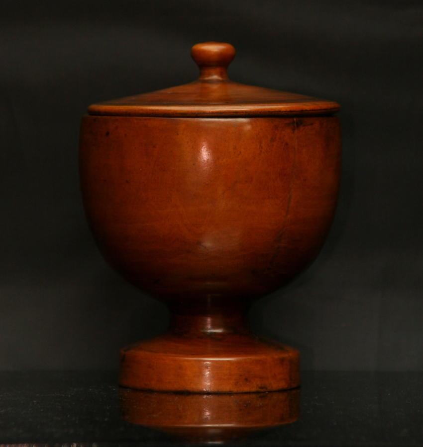Treen lidded goblet