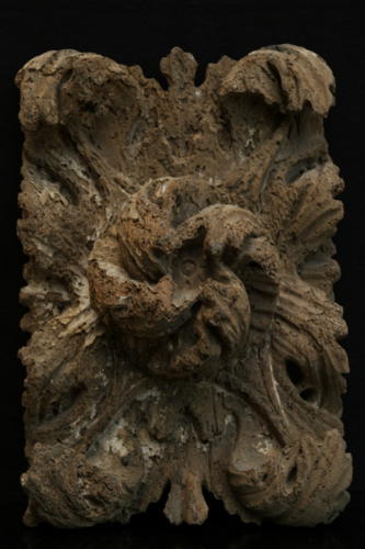 Carved wooden ceiling boss 16th or 17th century