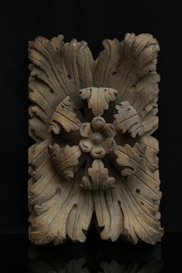Carved wooden ceiling Boss 17th or 18th century