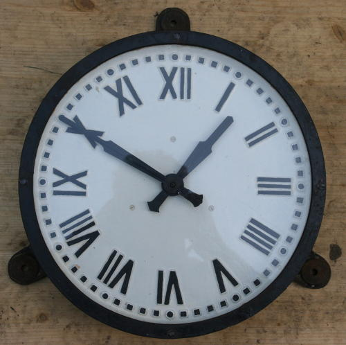 English cast Iron Factory clock Early 20th Century