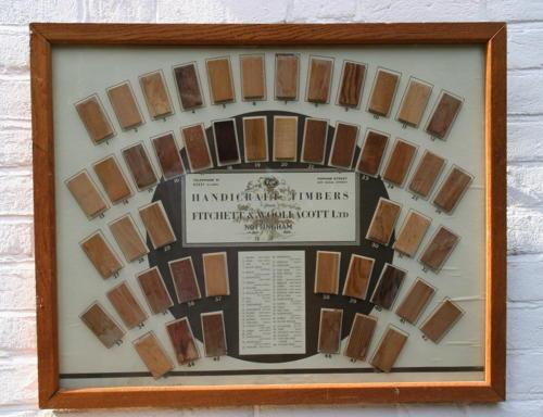 Shop Display advertising Wood sample Board