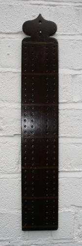 19th century Treen Cribbage Board