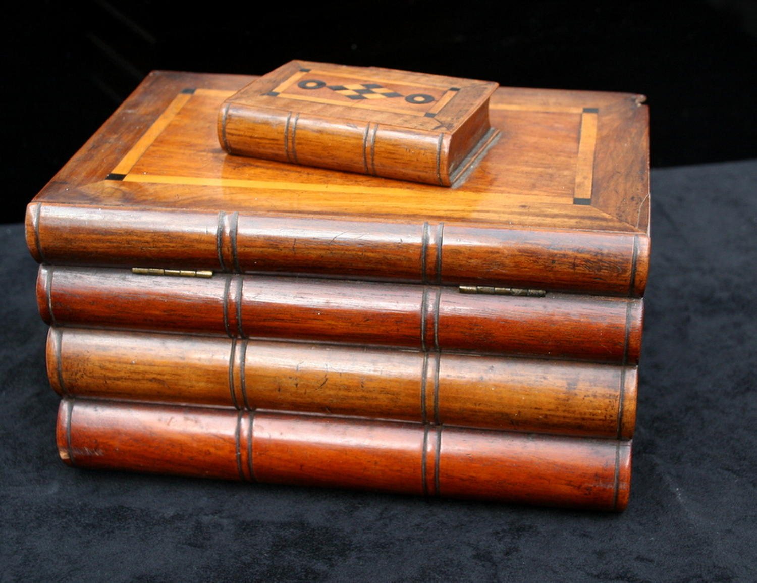 Victorian Stack of Books Tea Caddy