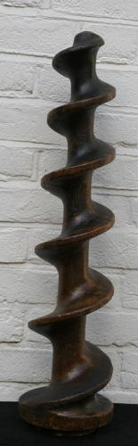 A large sculptural Treen Screw 19th Century