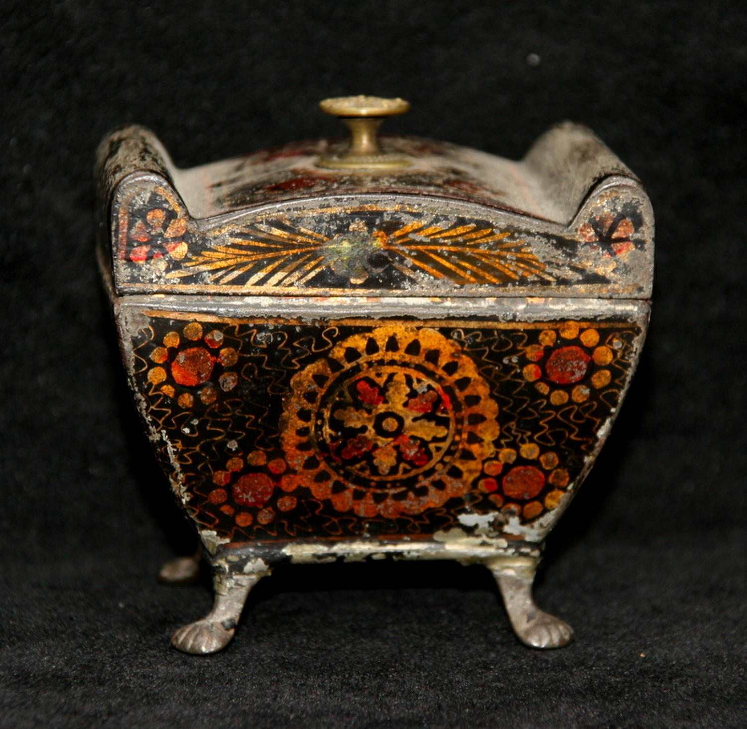 Tole Tea Caddy, Early 19th century