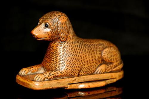 Dog Snuff Box, 19th century