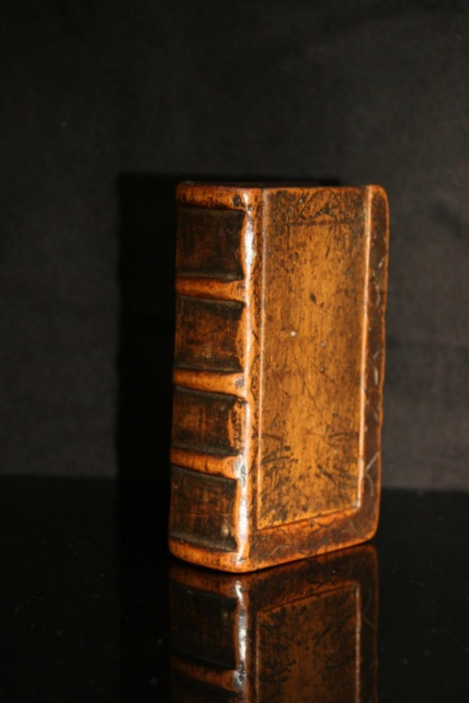 Treen Book Box Snuff Tobacco Box C 1780 In Treen
