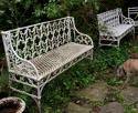 A Pair of Cast iron Garden Benches 19th century - picture 1
