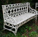 A Pair of Cast iron Garden Benches 19th century - picture 4