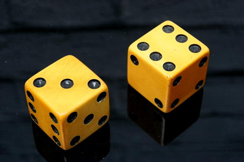 Pair of Bakelite Dice c.1930