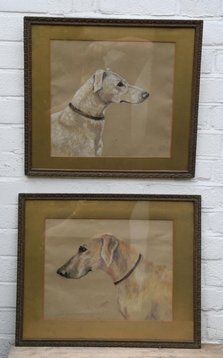 A pair of Dog Paintings