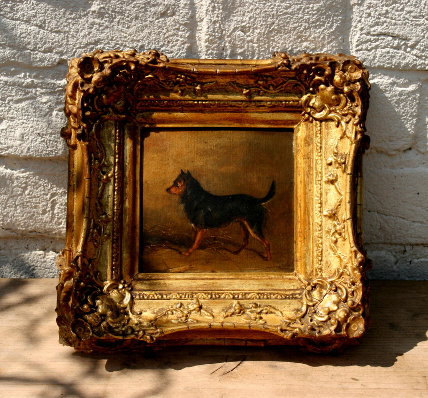 Dog oil Painting 19th Century