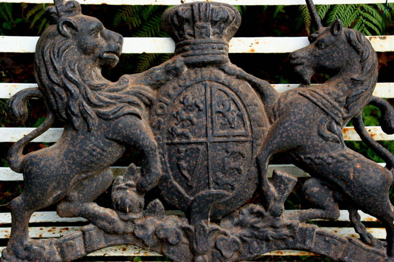Cast Iron Royal Victorian Coat of Arms