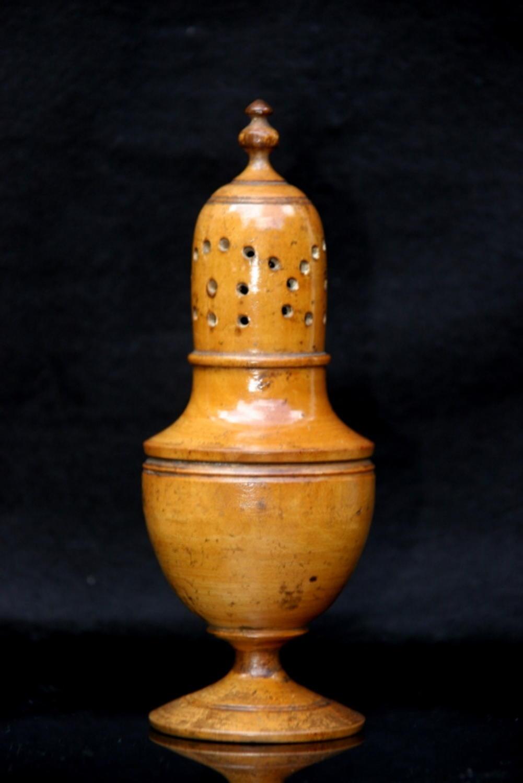Treen Muffineer 19th century