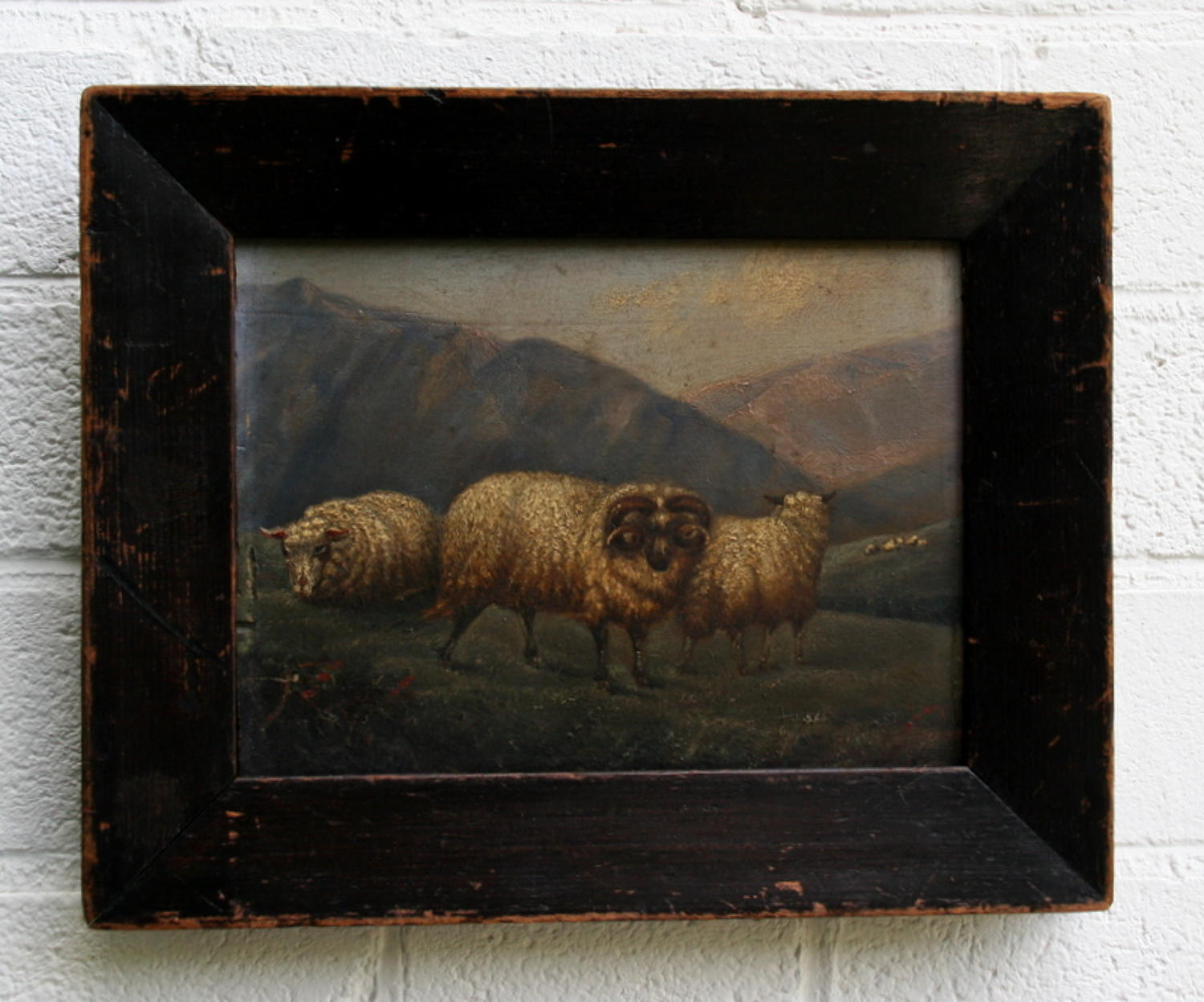 Victorian Sheep Oil painting