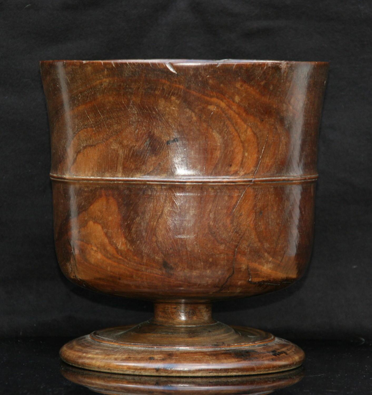 Wassail Bowl lignum vitae c.1680.
