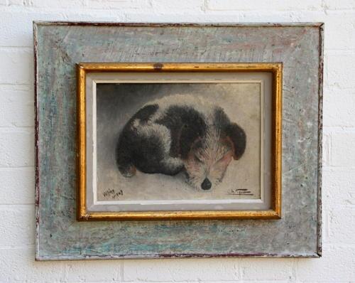 Sleeping dog painting / portrait