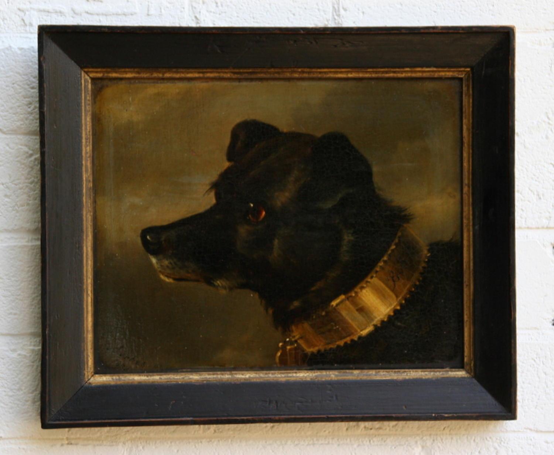 Dog painting / portrait 19th century